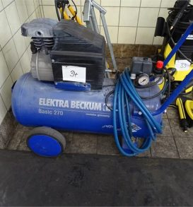 Small Compressor ELEKTRA BEKUM, Type Basic 270, manufactured in 2002