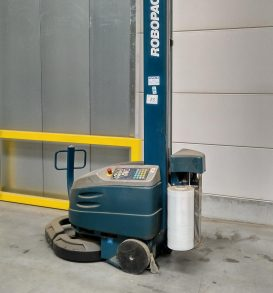 Palettenstretcher selbtfahrend, Fabr. Robopak, Typ Robot S5 PFS, Bj. 2010