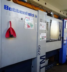Kunststoffspritzgießmaschine, Fabr. Battenfeld, Typ TM 2700/1300 Plus 130 L, Bj. 2003